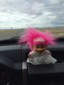 Bride troll lead the caravan down to Durango
